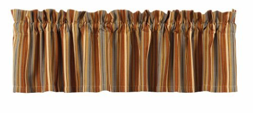 New IHF Home Decor Cordwood Pattern Valance Lined Window Treatments 100% Cotton Fabric 72 Inches x 14 Inches Valance Curtains ()