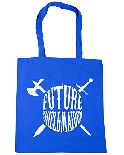 HippoWarehouse - Bolsa de playa de algodón  Mujer, azul (Azul) - 13501-TOTE-cornflower blue