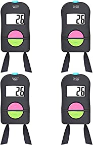 TEUN 4 Pieces Digital Hand Tally Counter Golf Sports Counter Electronic Add Subtract Manual Clicker Handheld M
