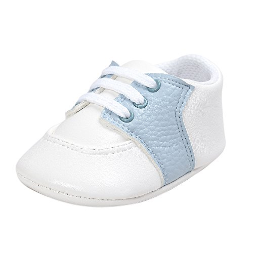 Baby Boys Soft Sole Infant Prewalker Toddler Sneaker Shoes 3-6 Months Light Blue