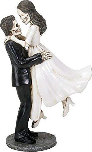 YTC Summit International Love Never Dies Skeleton Wedding Groom Holding Bride Figurine Day of the Dead