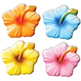 Hibiscus Sugar Decorations Cookie Cupcake Cake Easter Flowers 12 Count