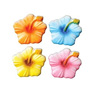 Hibiscus sugar decorations cookie cupcake cake for Decorate with flowers amazon