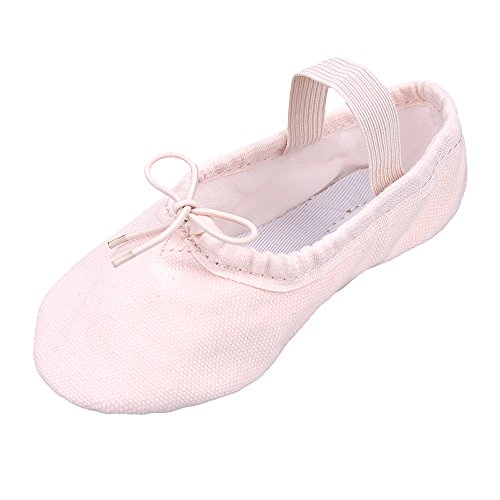 STELLE Girls'/Women's Canvas Ballet Slipper/Ballet Shoe/Yoga Shoe (Toddler/Little Kid/Big Kid/Women)(5M US Toddler, (Toddler Shoe Size)