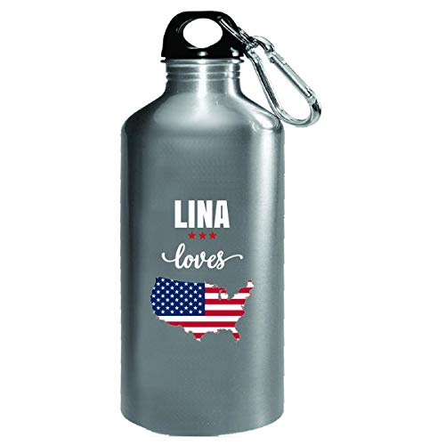 Lina Loves Usa 4th July Independence Day Gift - Water Bottle from Inked Creatively