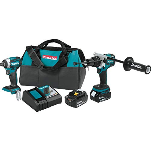 Makita XT268T 18V LXT Lithium-Ion Brushless Cordless 2-Pc. Combo Kit (5.0Ah) ()