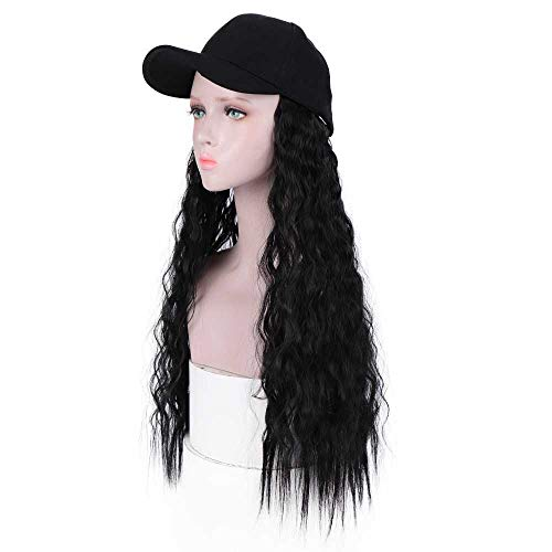 DIFEI Outdoor Hat Wig Patients Hat With Hair for Women Chemical Treatment Baseball Cap Hat With Wig Attached Synthetic Hair Wig (Cap Wig)