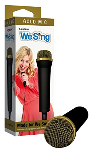 THQ Nordic We Sing Gold Top Microphone 2-Mic Bundle – PlayStation 3/2/1