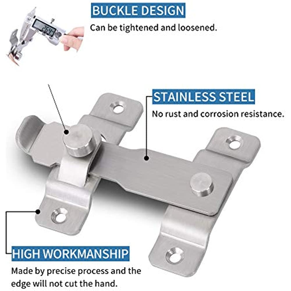 180 Degree Stainless Steel Latch Gate Latches Bar Door ...