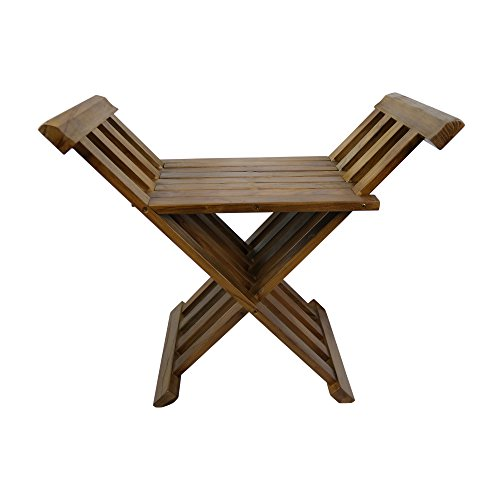 ALATEAK Indoor Outdoor Patio Shower Bath Spa Folding Bench Stool Seat by ALATEAK