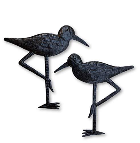 New Sandpiper Coastal Birds, Ornamental Sea Birds, Decorative Home Art, Nature Inspired, Handmade in Haiti, 2, Large, 8.5 in. X 9 in.