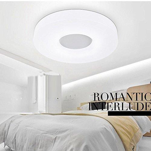 Modernes Weiß Acryl LED Deckenleuchte Rund, Schlafzimmer Lampe Einfaches  Design Balkon Deckenleuchte Wohnzimmer Deckenleuchte Leuchten Modern Large  (32W): ...