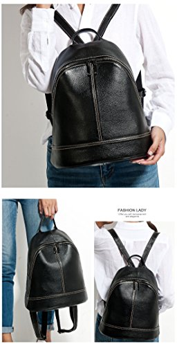 Simple Style Fashion Backpacks Lady Women Bags Light Female Schoolbag Leather Preppy Blue Casual Green Knapsack 100 Travel Genuine Holiday Army nzAF66E