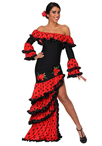 Spanish Woman Costume (Women's Spanish Senorita Costume Large)