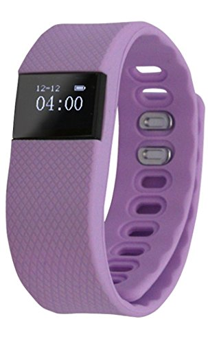 ActiveTec Fitness Tracker Smart Watch Bluetooth Watch Bracelet Smartband Calorie Counter Wireless Pedometer Sport Activity Tracker Android IOS Phone (Lavender (Snap (Lavender Snap)