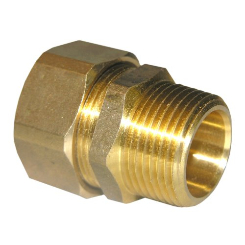 LASCO 17-6871 7/8-Inch Compression by 3/4-Inch Male Pipe Thread Brass Adapter