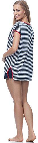 Italian Fashion IF Pijama para mujer Kami 0227 Blanco/Navy