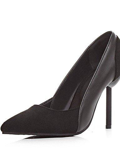 GGX/Damen Schuhe Fleece Sommer/spitz Toe Heels Büro & Karriere/Casual Stiletto Heel Split Gemeinsame Schwarz/Beige beige-us6 / eu36 / uk4 / cn36