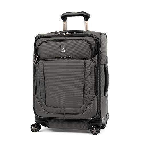 Travelpro Crew Versapack-Softside Expandable Spinner Wheel Luggage, Titanium Grey, Carry-On 21-Inch