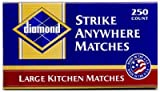 Diamond Strike Anywhere Large Kitchen Matches 1 box of 250 count