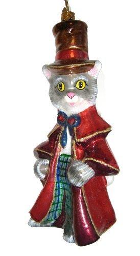 Christbaumschmuck Katze Marchen Weihnachtskugel Glas Mundgeblasen