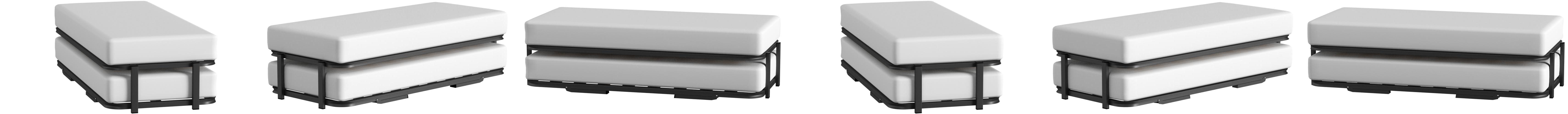 Hogar 24 Cama Nido con 2 Somieres, Estructura Reforzada Doble Barra Superior + Patas, 80x180cm