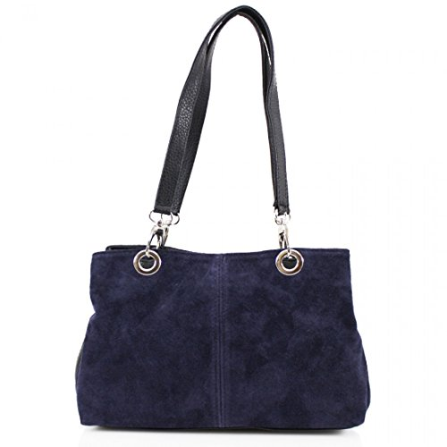 Suede Tripple Compartment Bags Shoulder Side Ladies Clicktostyle Navy Women Girls nIqvvT