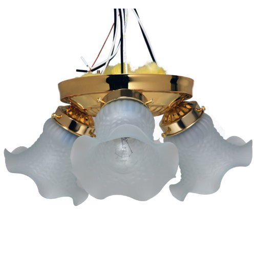 Boston Harbor F6BB03-22013L 5988936 Dimmable Ceiling Light Fixture, (3) 60/13 W Medium A19/Cfl Lamp, Polished Ceiling Fixture Boston Harbor