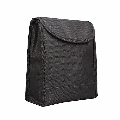 Durapower Car Seat Back Organizer, Waterproof Car Trash Bin Leakproof Auto Litter Bag with Side Pocket (Bin Release Side)