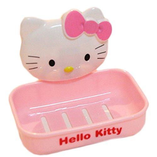 [Cute Cartton Hellokitty Soap Dish Pink] (Hello Kitty Soap Dish)