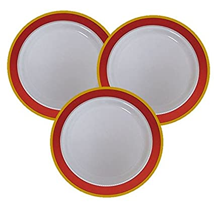 7u0026quot; Disposable Plastic Appetizer u0026 Dessert Plates With Red u0026 Gold Trim - 40 Pack  sc 1 st  Amazon.com & Amazon.com: 7