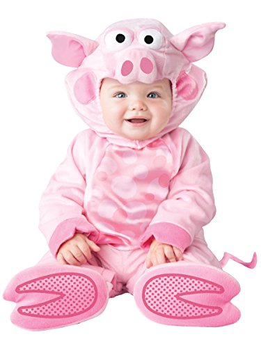 InCharacter Baby Precious Piggy Costume, Pink, X-Small (Infant Pig Costume)