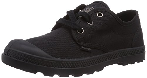 060 OXFORD Nero Schwarz donna Palladium PAMPA LP Low Black Black Sneaker Top pqHFP