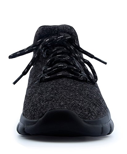 T&Mates Mens Fashion Casual Sneakers Lightweight Breathable Running Athletic Sports Shoes Black lQKLY