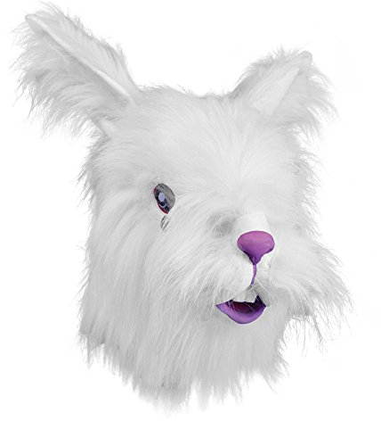 White Furry Rabbit Overhead Mask -