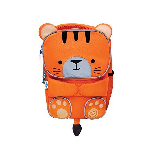 Trunki Mochila infantil para colegio de alta visibilidad- ToddlePak Tigre Tipu (Naranja)