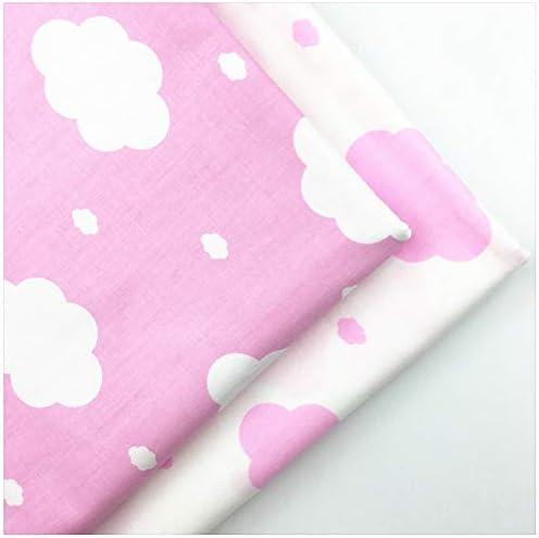 Tela con Nubes Rosas Impresas de algodón para Coser, Ropa de Cama ...