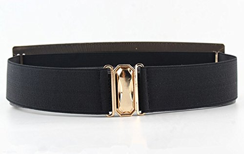 FIONTO Elastic Mirror Golden Metal Waist Belt Metallic Bling Plate Wide Band Belts For Women Ladies Accessories tactical - Oakley Outlet Watches