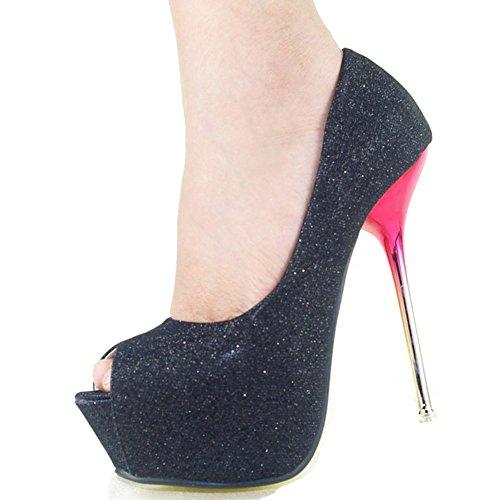 GetmorebeautyUpdate - Zapatos con tacón mujer negro