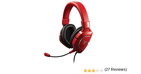 Tritton AX180 - Auriculares Con Cable, Color Rojo (Windows 7, PS4, PS3, Nintendo Wii U, Xbox 360, Mac OS X)