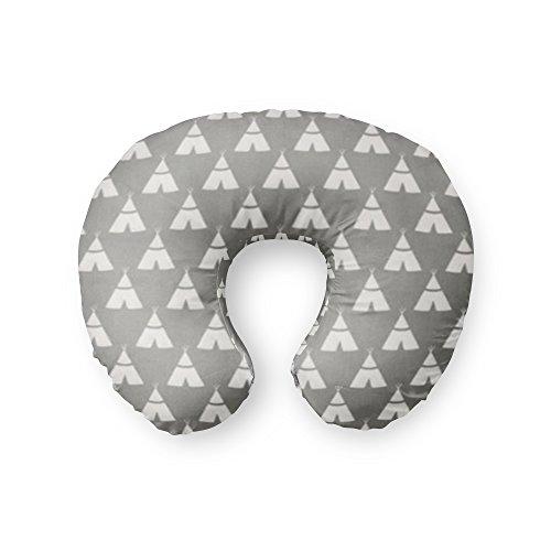 AllTot Nursing Pillow Cover in Gray Teepees