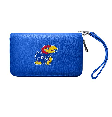 NCAA Kansas Jayhawks Zip Organizer Pebble Wallet -