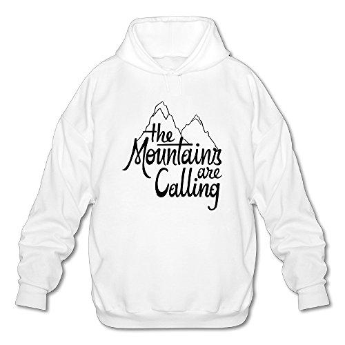 Firewei The Mountains Are Calling And I Must Go Raglan Logo Men's Hooded Sweatshirt White