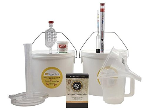 Starter Wine Making Set - Solomon Grundy Gold Merlot 6 Bottle Size Red Wine Kit With Equipment - Home Made Homemade Wine BiggerJugs