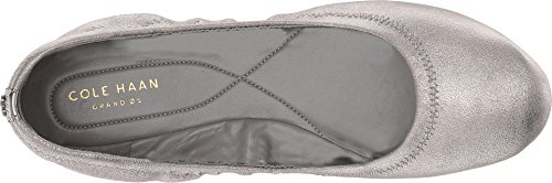 Flat Metallic Cole Women's Ii Ballet Leather Zerogrand Haan Gunmetal Shimmer wXTH8Xq