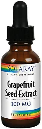 Solaray Grapefruit Seed Extract 100mg Unflavored Liquid GSE for Healthy Immune System Digestion Support Vegan 100 Servings 1 Fl. Oz.