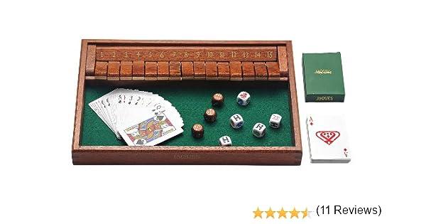 15 Número Caoba Shut The Box: Amazon.es: Juguetes y juegos
