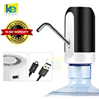keSHOP Automatic Drinking Water Dispenser Pump for 20 Litre Bottle with USB Rechargeable Battery Compatible for 5L Can