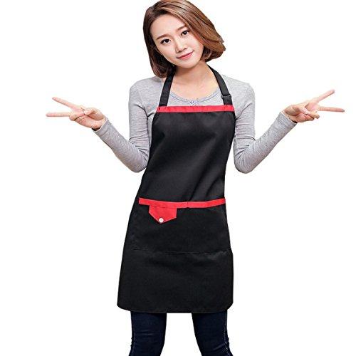 bolsillos Delantal la Bistro para Ahatech con Restaurant Black a moda de cocina r4zrY