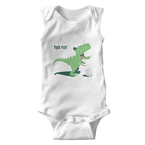 - Hyduns Baby Onesies Tea-Rex Funny Dinosaur Coffee Mug Cotton Sleeveless Bodysuit